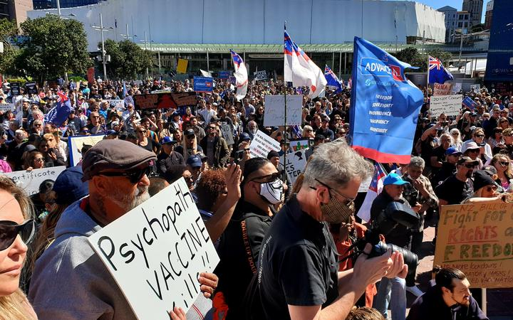 About a few thousand people were out for Advance Party's demonstration against the government's Covid-19 restrictions and lockdowns on 12 September, 2020.