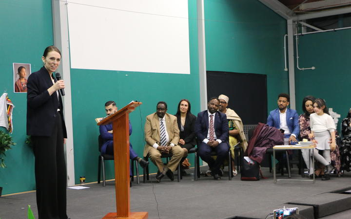 Labour Party leader Jacinda Ardern was warmly received by speakers at the event.