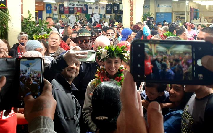 Jacinda Ardern spent this morning visiting the South Auckland markets in Ōtara and Māngere.