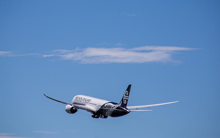The first quarantine-free flight, NZ103, which took off from Auckland for Sydney on 16 October.