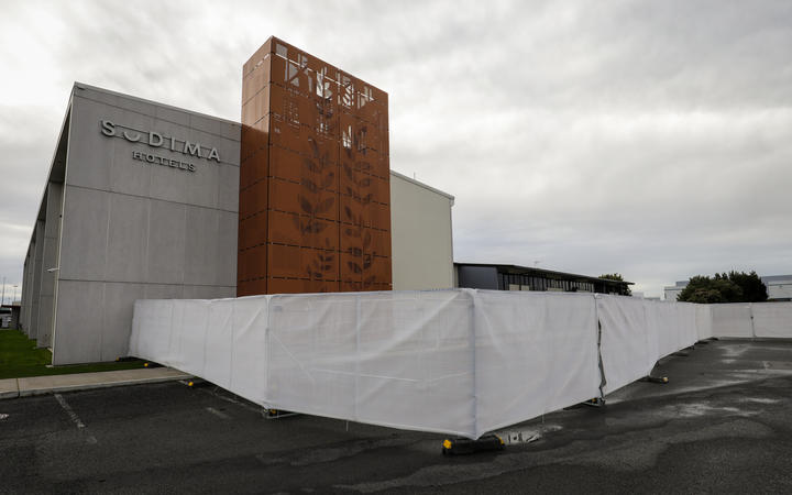 The Sudima Hotel in Christchurch which is being used as an isolation facility.