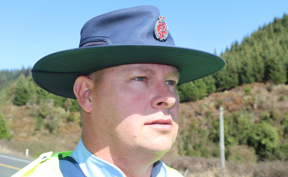 Hawke's Bay road policing officer Constable Steven Knox.