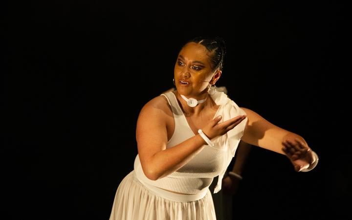 Natalia Ioane performs in the I AM showcase.