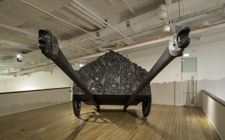 Brett Graham's Tai Moana Tai Tangata exhibition at Govett-Brewster gallery.