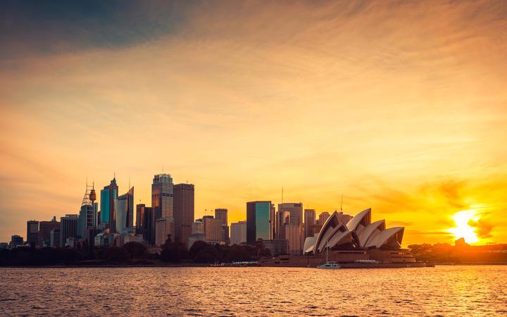 Sydney at sunset.