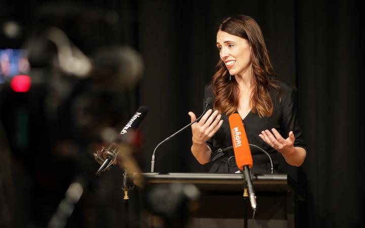 Prime Minister Jacinda Ardern addresses the public at an event to commemorate victims of the Christchurch earthquake 10 years ago.