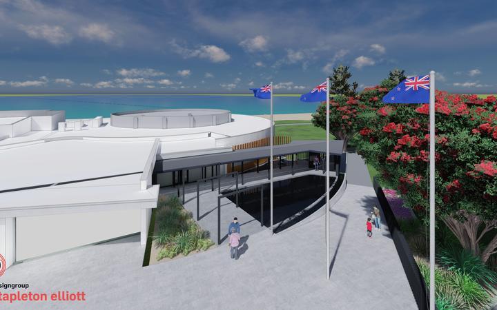 The new design for Napier's War Memorial Centre