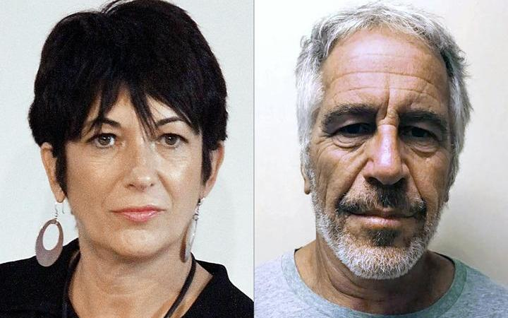 Ghislaine Maxwell (L) during an event on September 20, 2013 in New York City and an undated handout photo obtained on July 11, 2019 courtesy of the New York State Sex Offender Registry of Jeffrey Epstein (R).