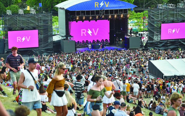 Rhythm and Vines - About 23,000 people attended the festival at Waiohika Estate in Gisborne each day between 28 December and 1 January.