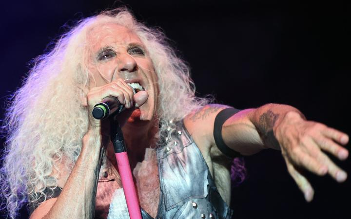 """Singer Daniel """"Dee"""" Snider of the US heavy metal band """"Twisted Sister"""" performs during a concert at the """"Red Stage"""" under the """"Nova Rock 2016"""" Festival on June 12, 2016 in Nickelsdorf."""
