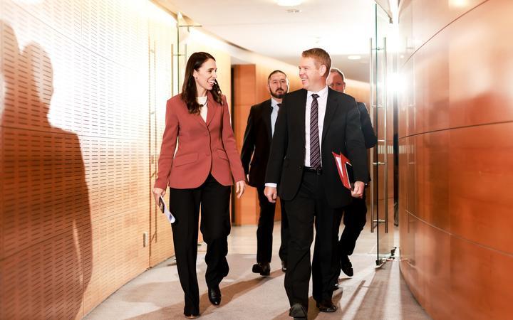Prime Minister Jacinda Ardern and Minister for Covid-19 Response, Chris Hipkins.