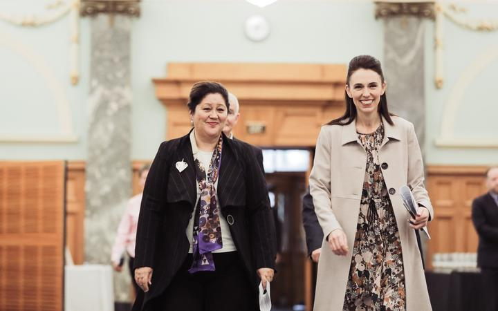 Dame Cindy Kiro and Prime Minister Jacinda Ardern.