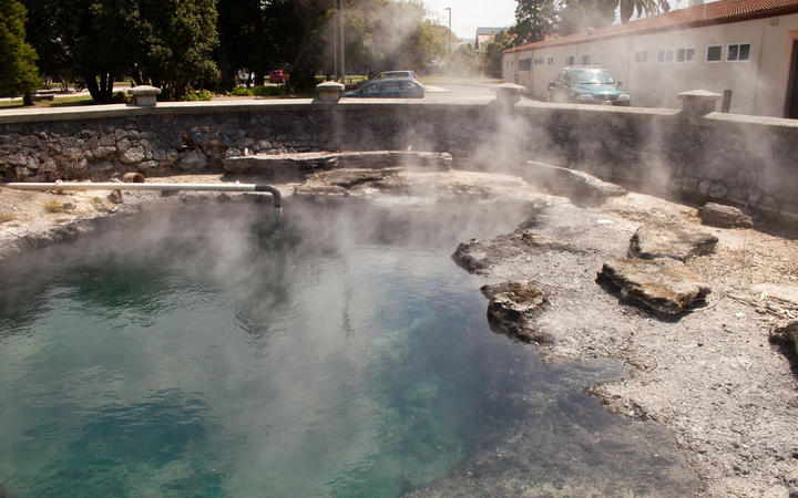 A hot pool in Government Gardens in Rotorua