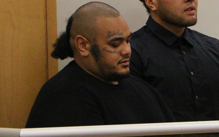 (from left) Jarome Fonua, Tyson Daniels, Pasilika Naufahu, Connor Clausen appear in the Auckland district Court.