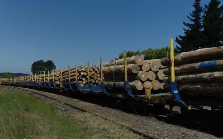 KiwiRail Wairoa to Napier line carrying logs.