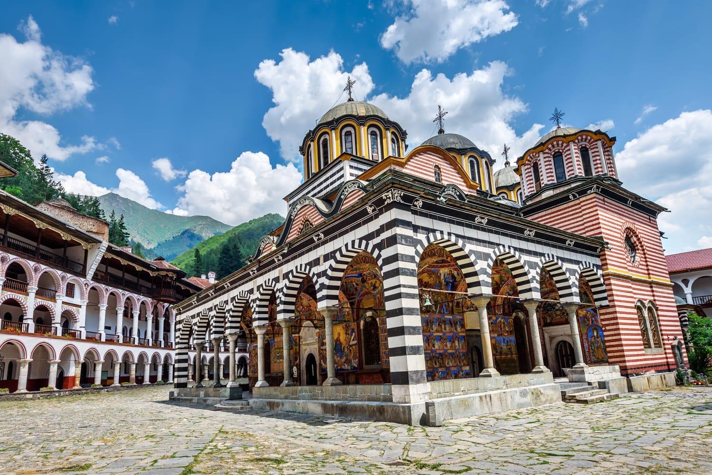 Rila monastery, a famous monastery in Bulgaria.