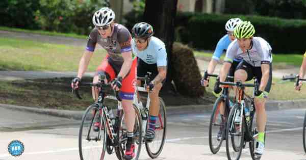 fast riding group of cyclists