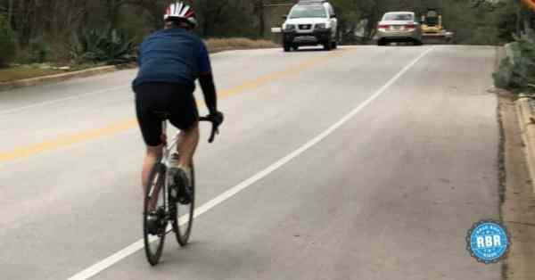 cyclist riding uphill