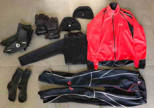 30 degree weather cycling apparel list