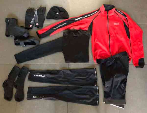 cycling clothing for 40 degree riding