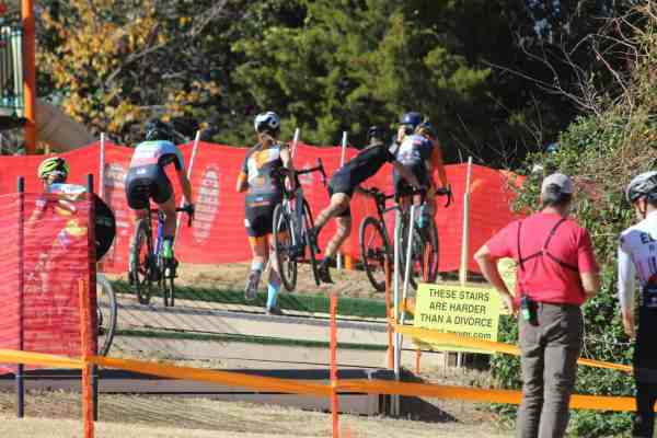 cyclocross women stairs race