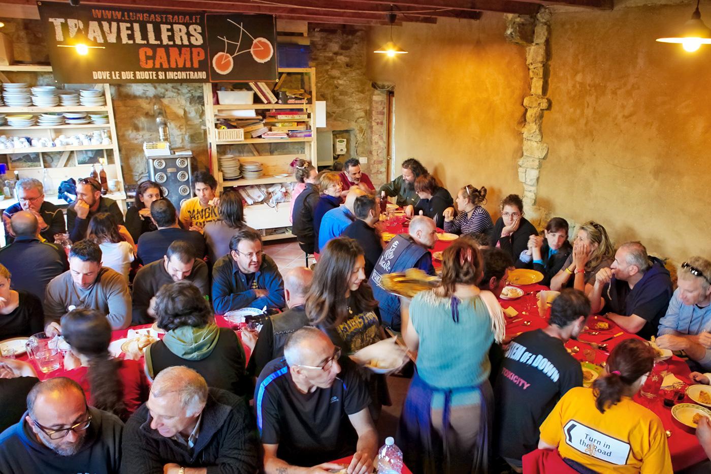 Travellers Camp 2016, il pranzo a Granara