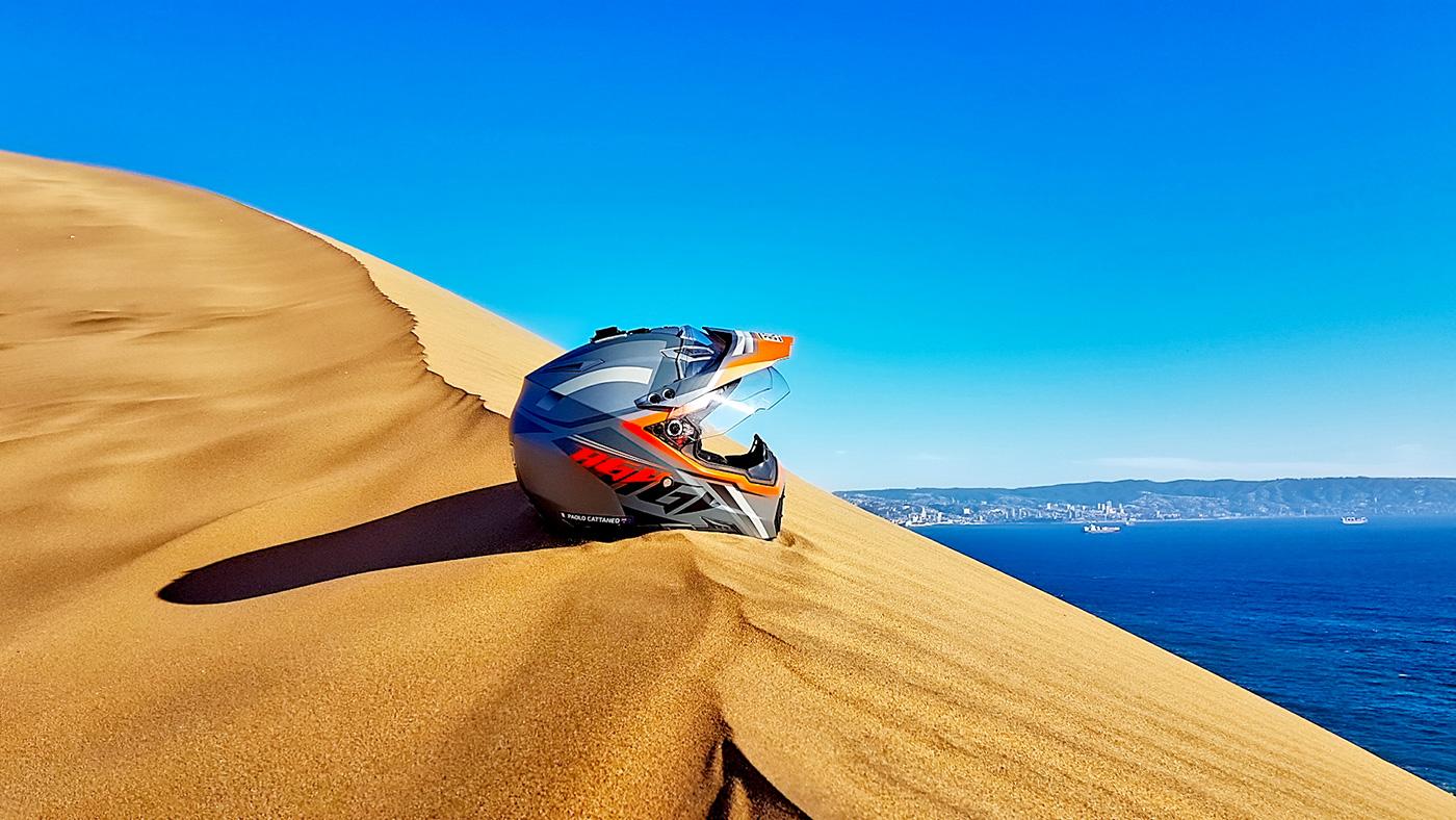 In moto in Cile, le spiagge di Concón