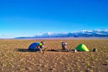Campeggio nel Deserto del Gobi