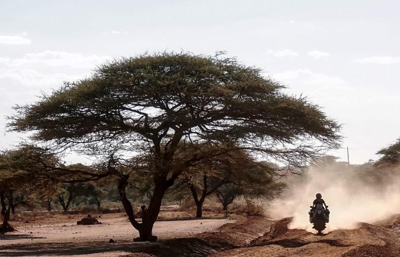 Around Gaia, Manu, la Yamaha XT 660 Z Ténéré in Africa