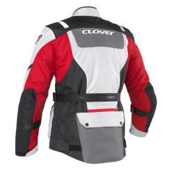 Giacca Clover Scout 2 da uomo rossa e grigia, il retro