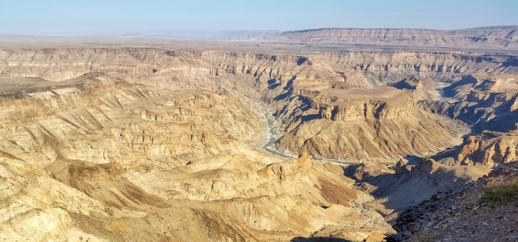 Sudafrica e Namibia in moto, panorama del Fish River Canyon