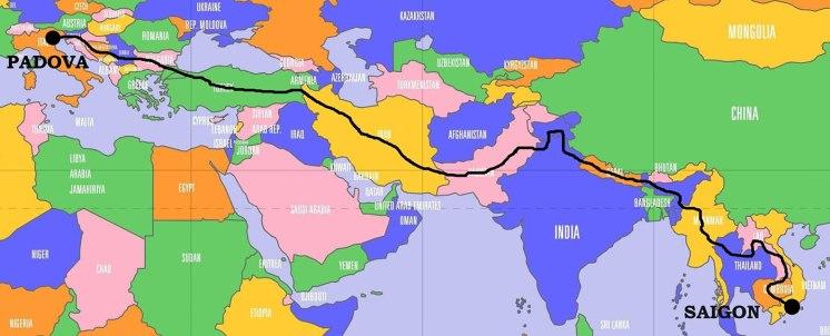 """""""To Asia"""": dall'Italia al Vietnam in moto, il percorso"""