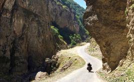 Il Caucaso dell'Azerbaijan verso khinaliq