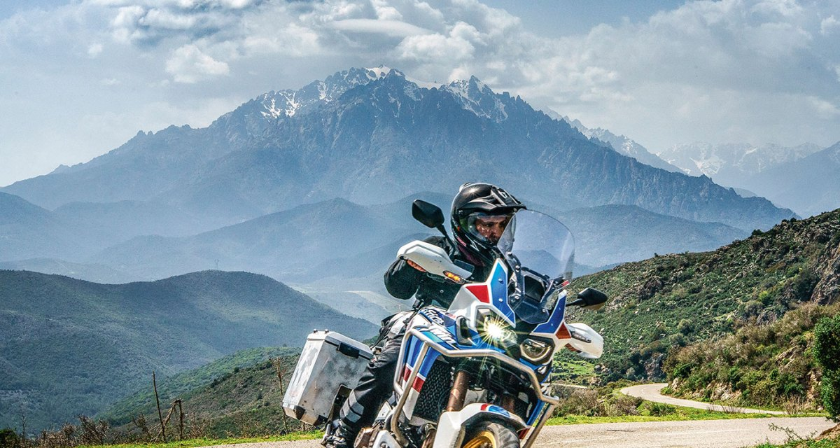 video Corsica in Africa Twin