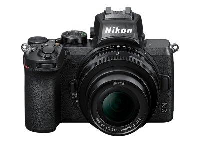 nuova Nikon Z50 vista frontale