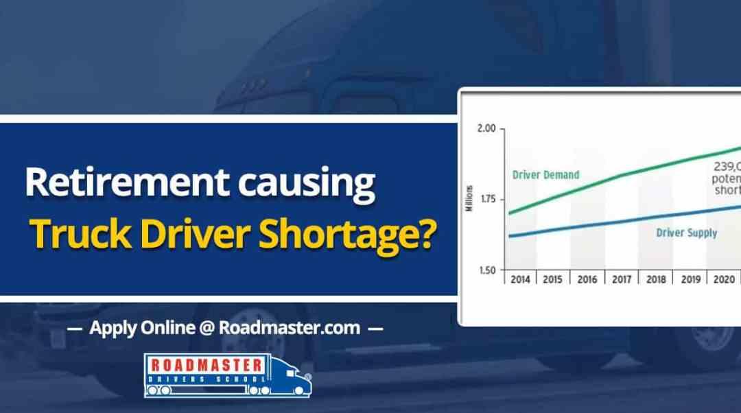 Retirement causing truck driver shortage?
