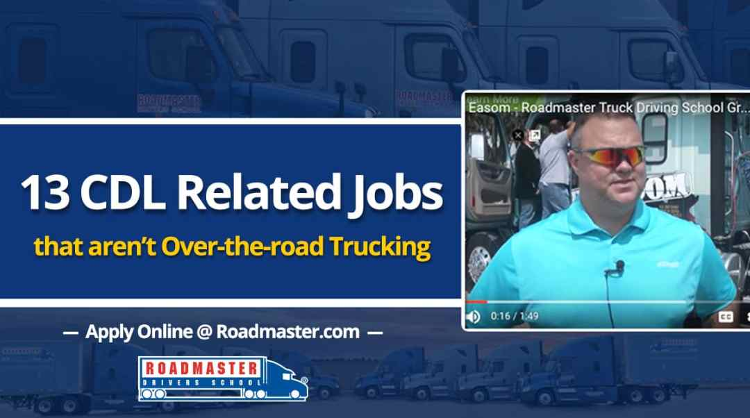 13 Cdl Related Jobs That Aren T Over The Road Trucking Video