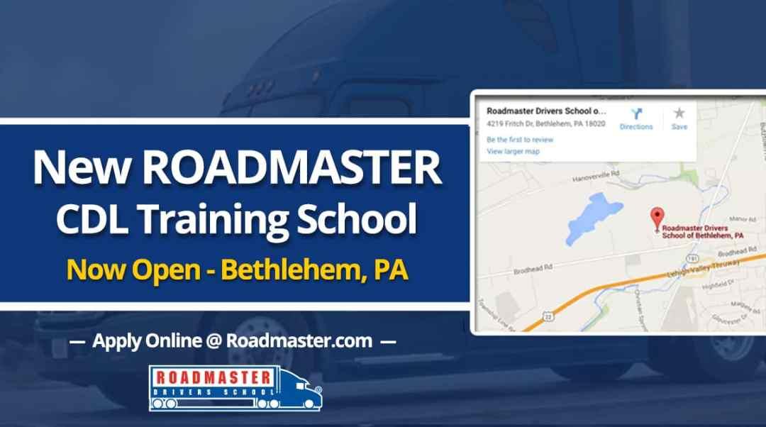 New Roadmaster Cdl Training School Now Open In Bethlehem Pa