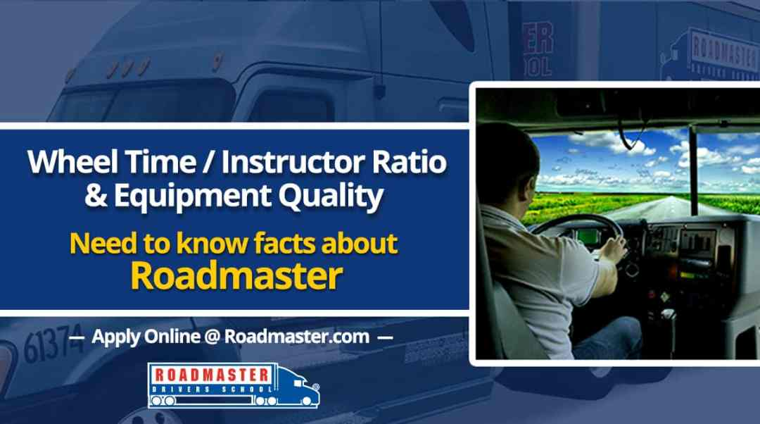Wheel Time, Instructor Ratio & Equipment Quality: Need-To-Know Facts About Roadmaster