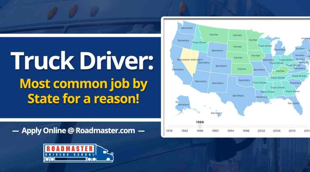 Truck Driver: The Most Common Job By State For A Reason