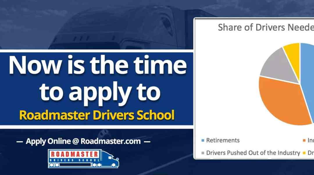 Now is the Time to Apply to Roadmaster Truck Driving School!