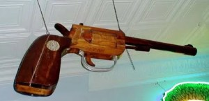 Wood Trade Sign Gun Pistol, trade signs, vintage signs, collectible signs