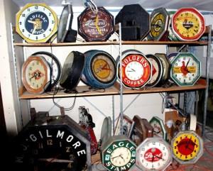 Old neon clocks, Vintage Advertising Neon Clocks