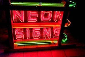 Old Porcelain neon sign