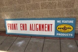 Old Pennzoil sign vintage