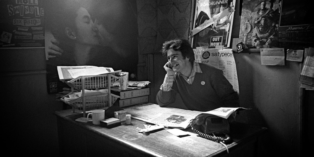 Inside the Roadrunner office 1981