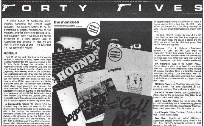 Singles June 1980