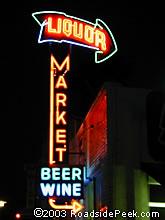 Roadside Peek Neon Signage Southern California 5
