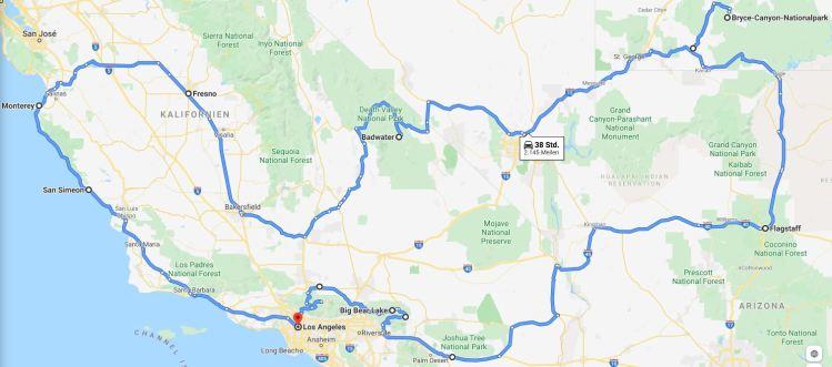 Routenplanung für den Roadtrip