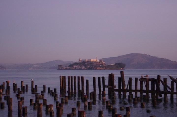 Alcatraz - Exploring San Francisco at dawn - learn more on Road Trips around the World - www.RoadTripsaroundtheWorld.com
